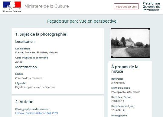 Ministère de la culture parle du château