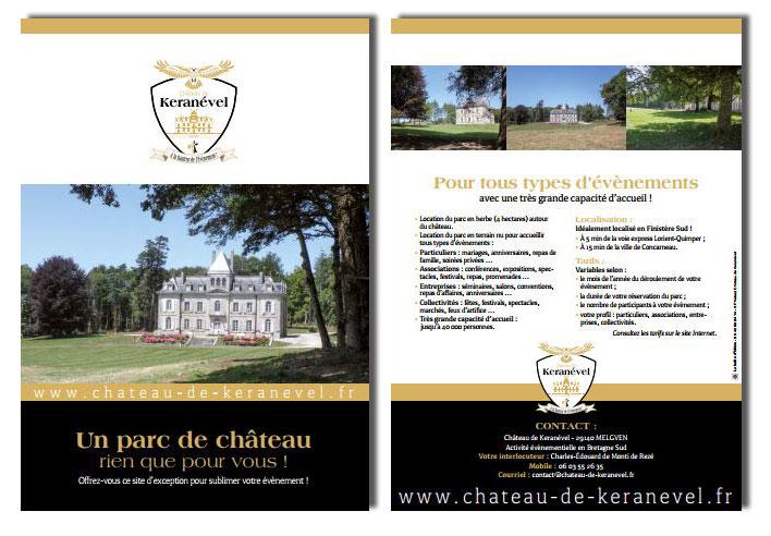 plaquette de présentation du château